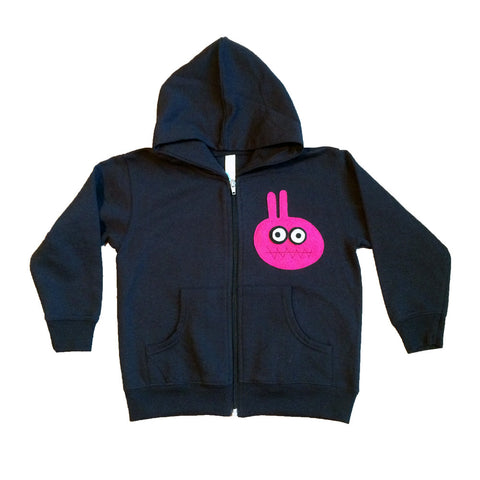 Kids Black Hoodie - Bunny Monster - mi cielo x Matthew Langille
