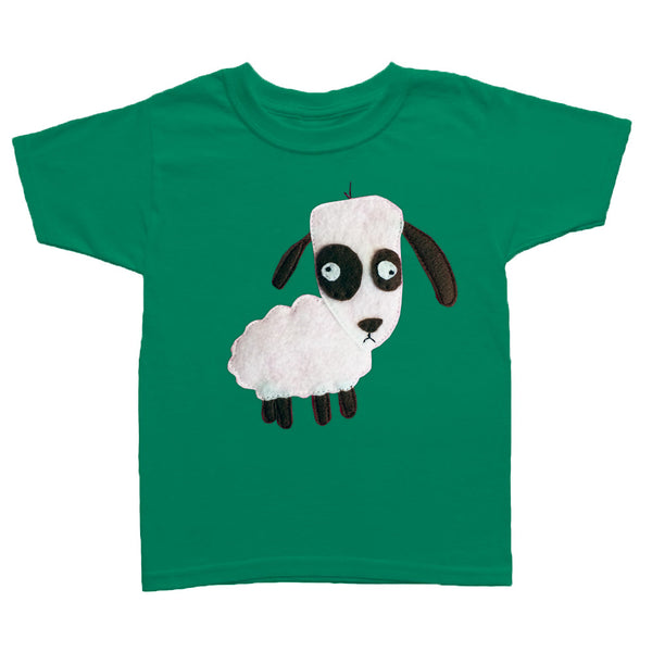 Kids T-shirt - Sheep - mi cielo x Matthew Langille - green