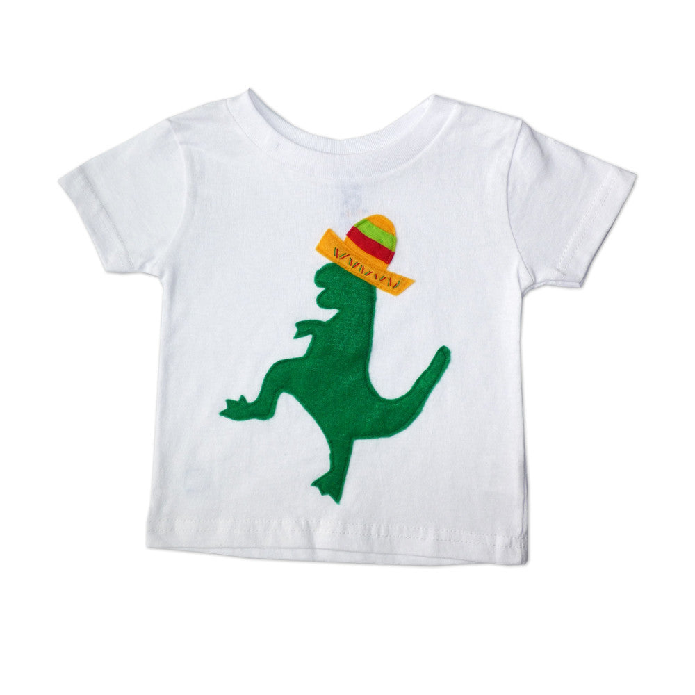 Kids T-shirt - Mexican Dancing Dinosaur with Sombrero - Toddler shirt