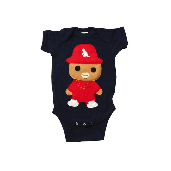 Baby Onesie - Rad Rapper - Red Kangaroo Hat
