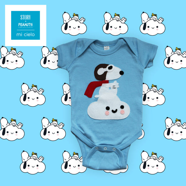 mi cielo x Snoopy - Cloud - Baby Bodysuit