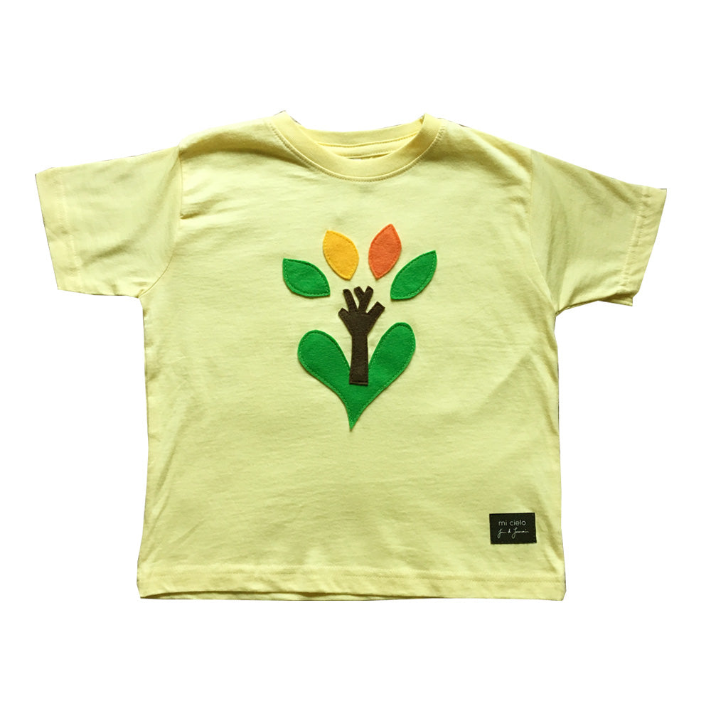mi cielo x JUAN DE LASCURAIN - The Tree – Yellow Kids Tee – Boys or Girls