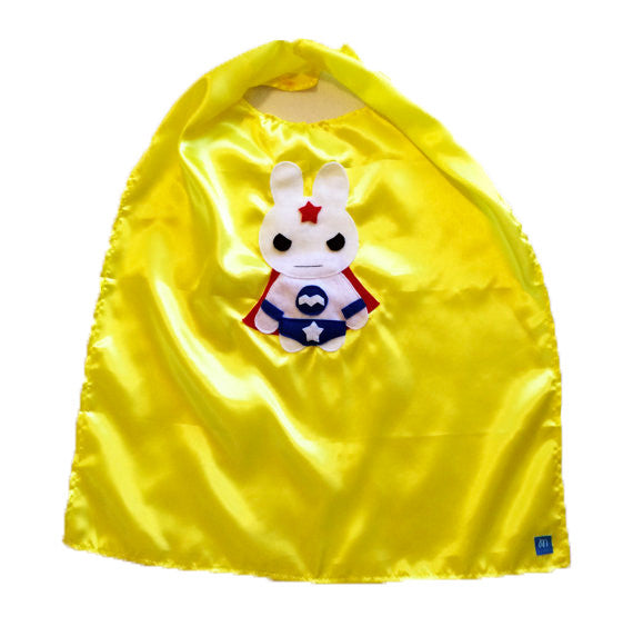 Kids Superhero Cape - Team Super Animals - Star Bunny