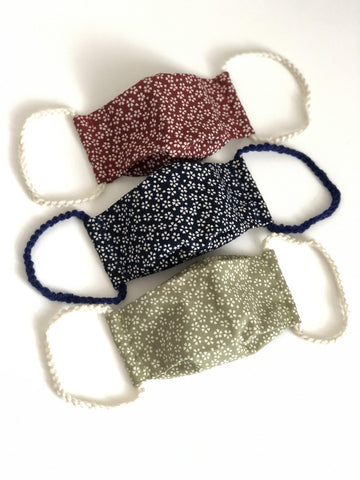 Washable Reusable [Adult Size] Face Mask - Made of Japanese Fabric - Cherry Blossoms
