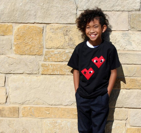 Kids T-shirt - I Heart - mi cielo x Donald Robertson - Black