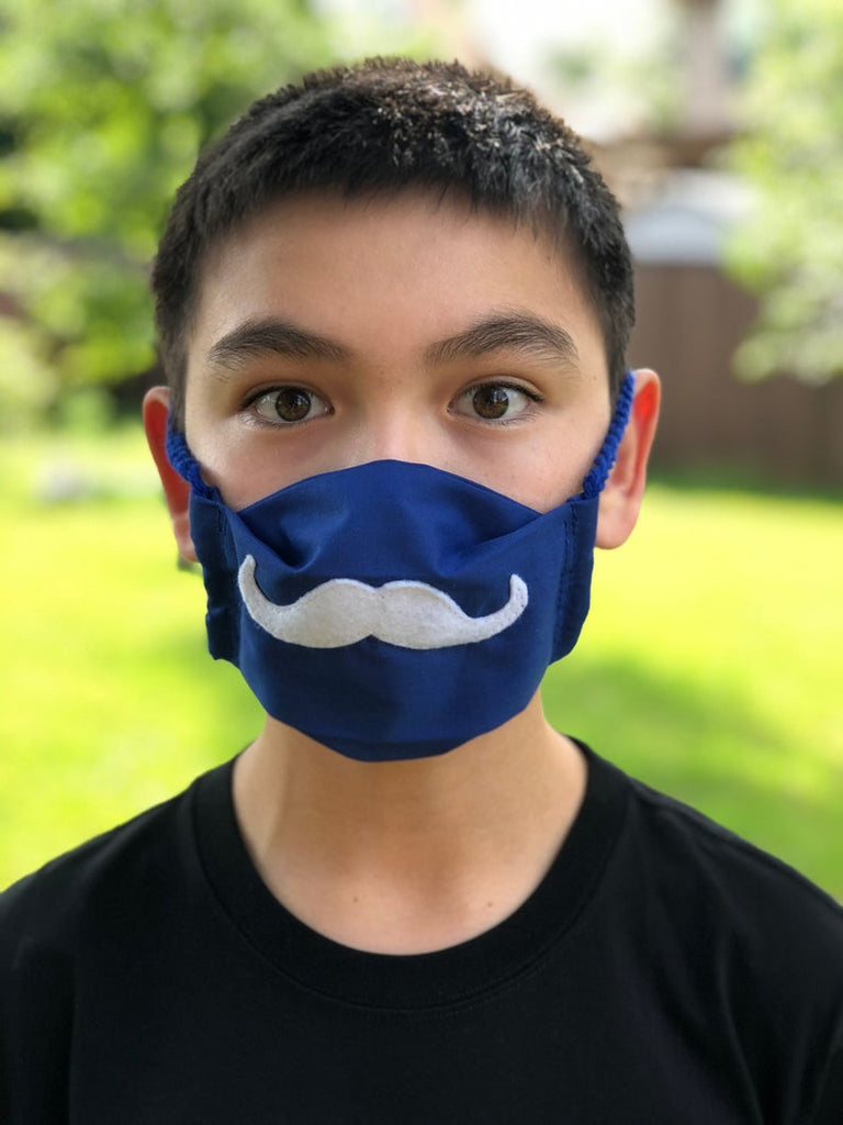 Fun Mustache [Kids Size] Face Mask - Washable and Reusable