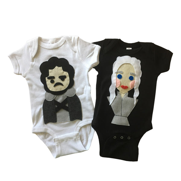 Snow and the Dragon Queen - Baby Bodysuit Combo