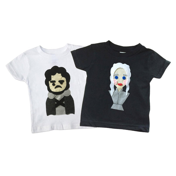 Snow and The Dragon Queen- Kid's T-shirts