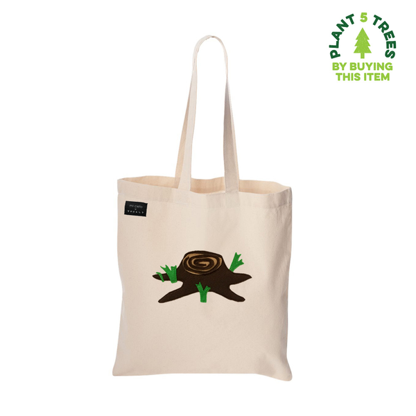Giving Tree - Ivory Tote Bag- mi cielo x Donald Robertson