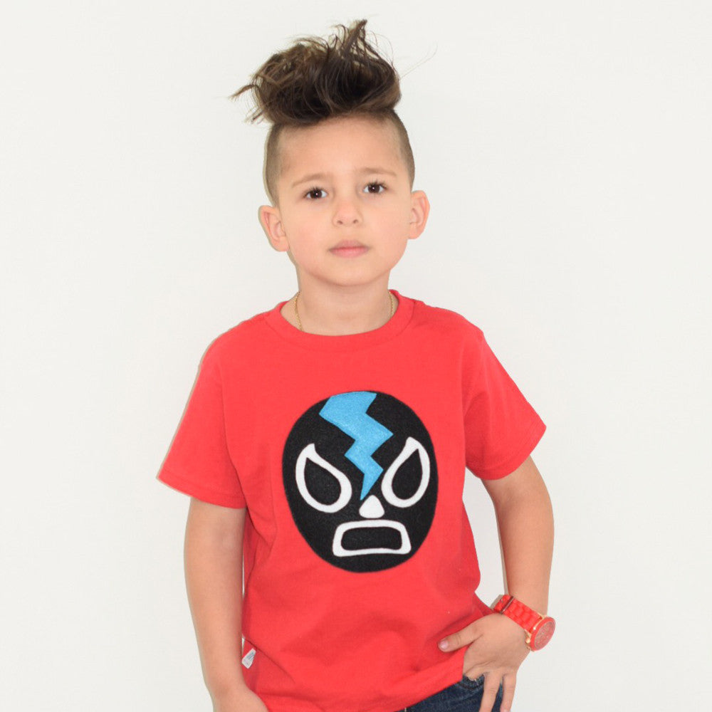 Kids T-shirt - Luchador Negro - Black Mexican Wrestler Toddler Shirt - Lucha Libre
