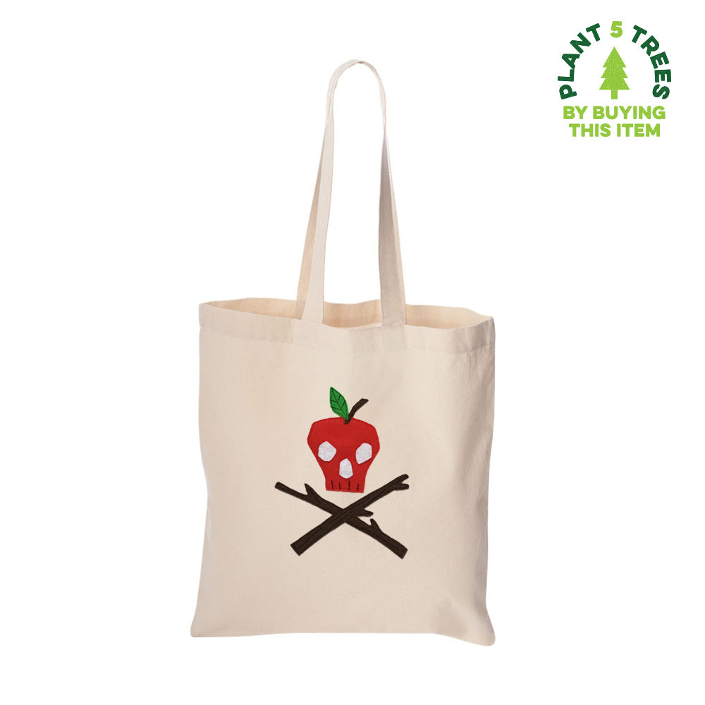 Poison Apple  - Ivory Tote Bag- mi cielo x Donald Robertson