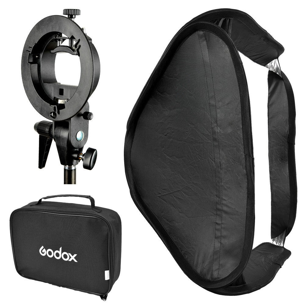 Softbox plegable Godox de 60x60cm con bracket para flashes speedlite - La Bodega del Fotógrafo
