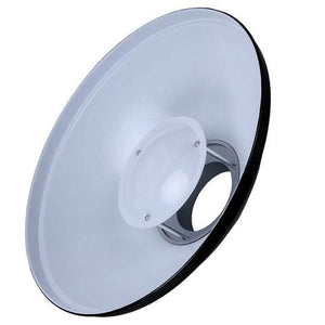 Reflector Beauty Dish Godox BDR-W420 de 42cms con superficie reflectante color blanco - La Bodega del Fotógrafo