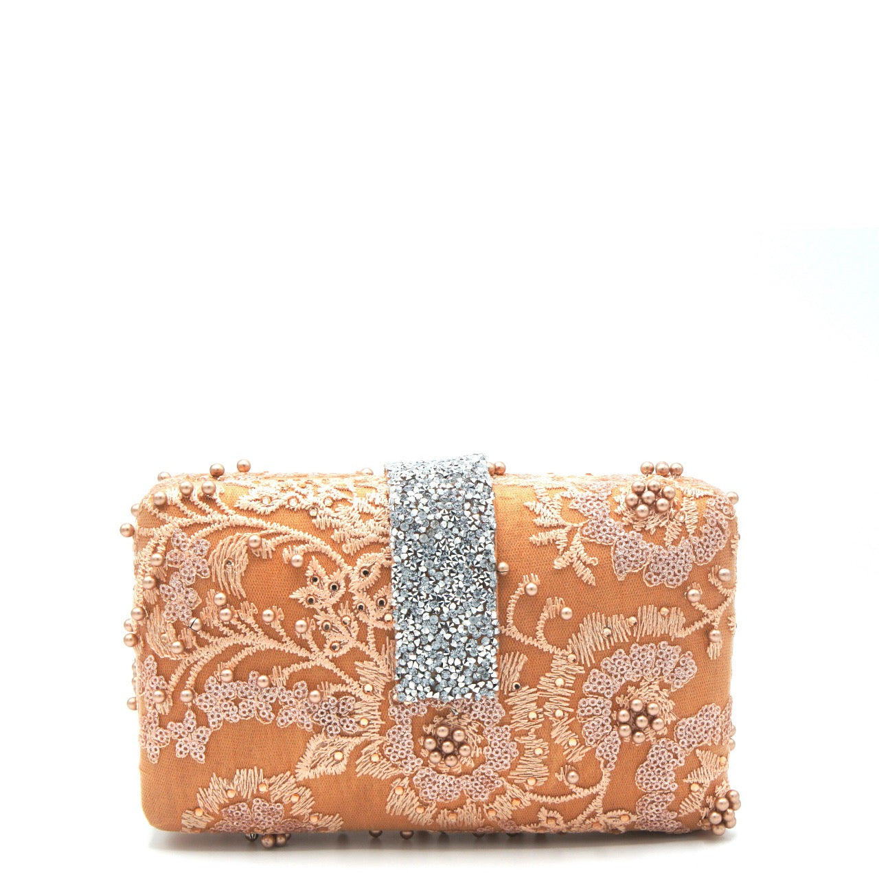 Orange Lace Clutch