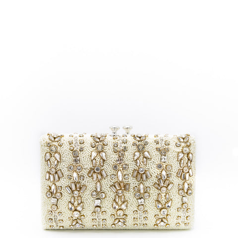 Silver Box Crystal Clutch