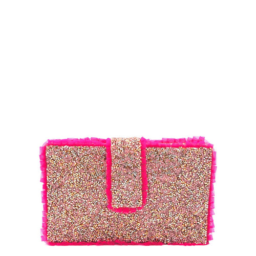 Pink Flamingo Clutch
