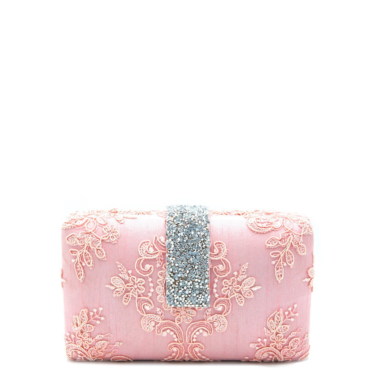 Pink Lace Clutch