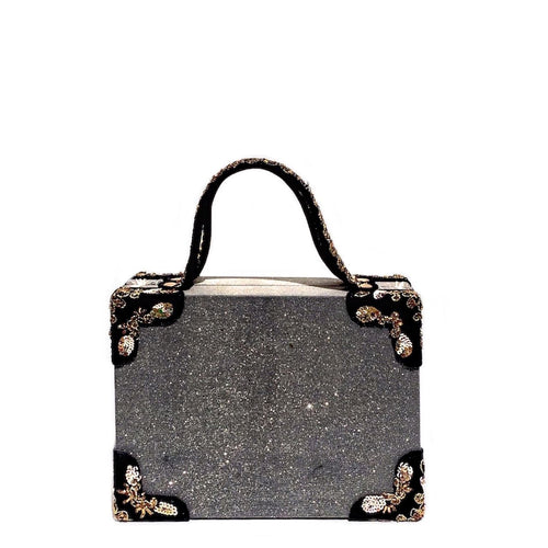 Shimmer Zari Briefcase Bag