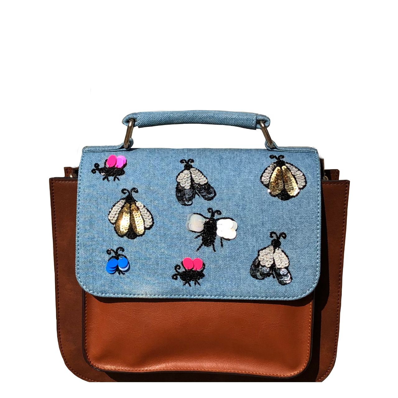 Outlet Discount Authentic Discount Brand New Unisex Simitri Designs Tan Beetle Tote Clearance Pictures V6w5oN