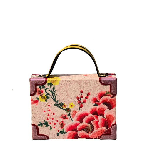 Pink Flower Dust Briefcase