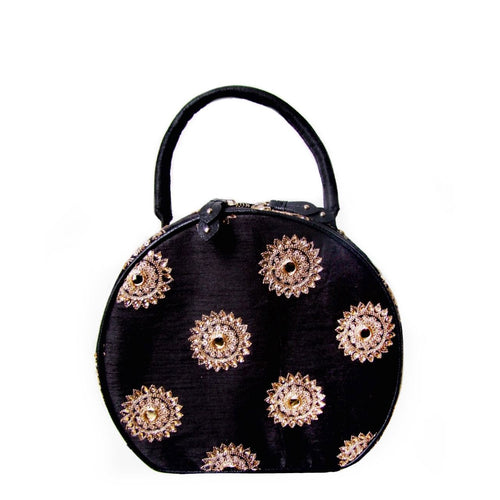 Black Polka Drum Bag