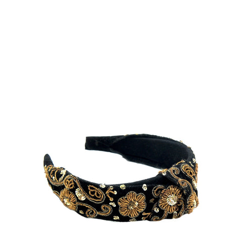 Black Donut Knotted Headband