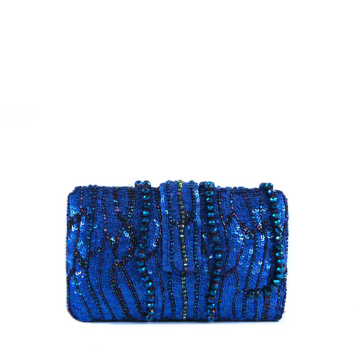 Blue Waterfall Clutch
