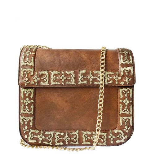 Brown Jaipur Satchel