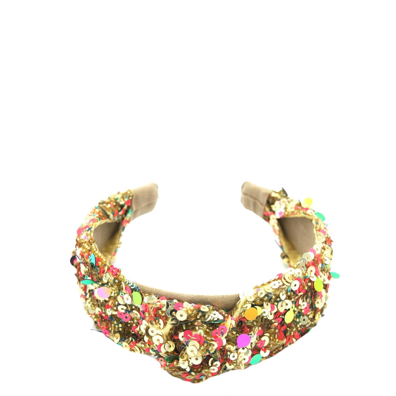 Gold Donut Knotted Headband