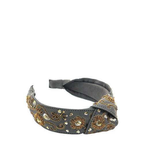 Gray Zari Headband