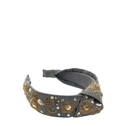 Black Zari Headband