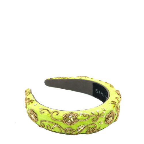 Kiwi Gold Zari Headband