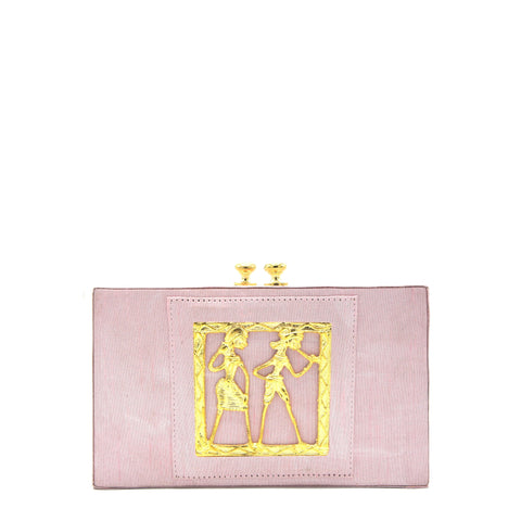 Pink Pearly Crystal Clutch