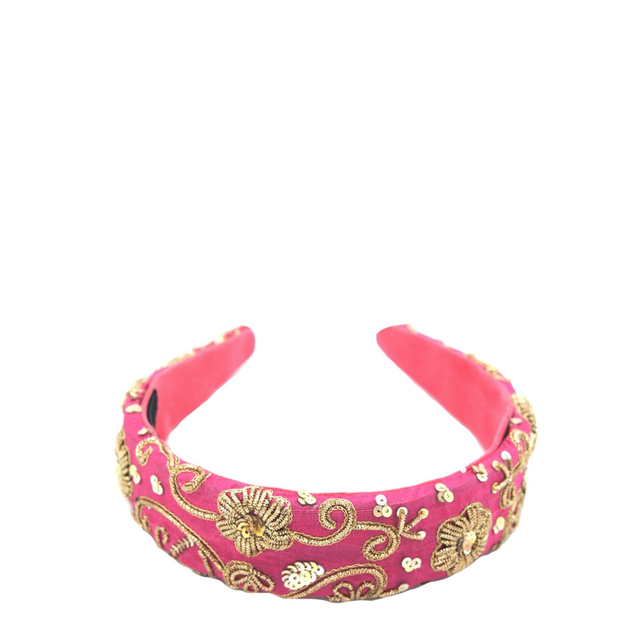 Pink Gold Zari Headband