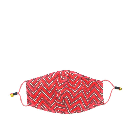 Red Chevron Mask