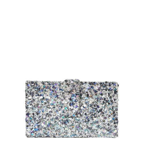 Silver Kitsch Clutch