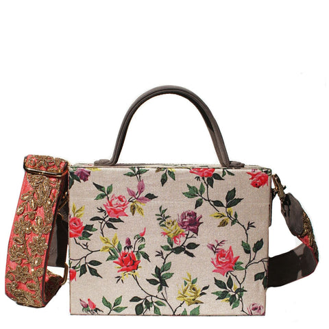 Winter Rose Briefcase Bag