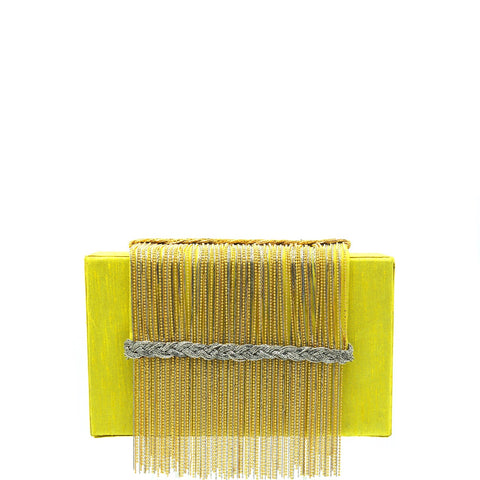 Yellow Tribal Clutch
