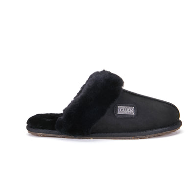 CLOSED MULE BLACK