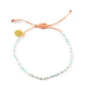Coral & Teal Multi Color Beaded Bracelet
