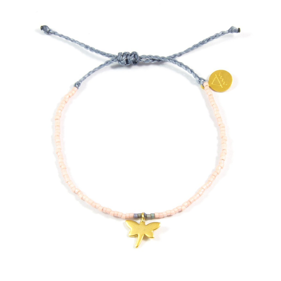 Light Coral & Denim Dragonfly Bracelet