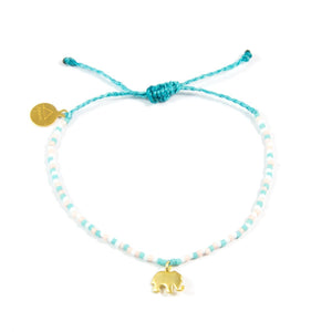 Teal & Coral Multi Color Ellie Bracelet