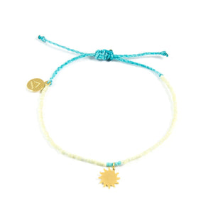 Teal & Pineapple Sun Bracelet
