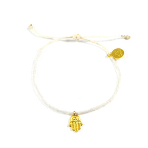 White Party Hamsa Bracelet