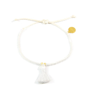White Party Tassel Bracelet