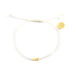 White Party Gold Bead Bracelet