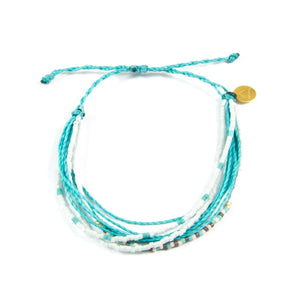 Teal Beaded Multi Strand Bracelet