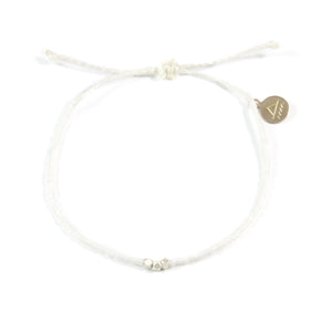 White Party Silver Bead Bracelet