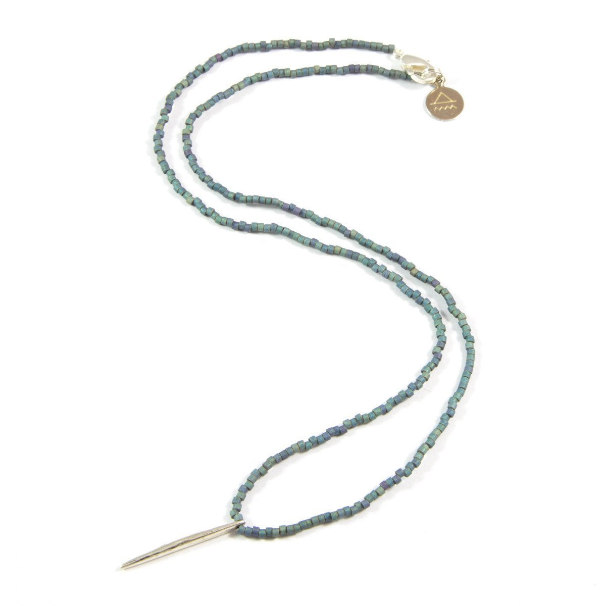 Denim Spike Necklace in Silver