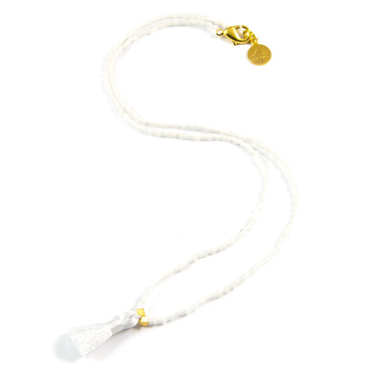 White Party Mini Tassel Necklace